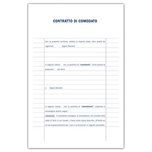 Prodotto 842700000 locazione contratto di comodato for Contratto di locazione