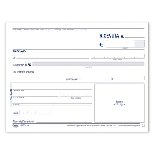 Prodotto 6262c0000 ricevute di pagamento per attivit for Codice fiscale da stampare